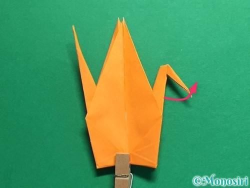 折り紙で鶴の折り方手順32