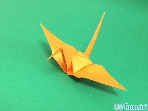 折り紙で鶴の折り方手順35