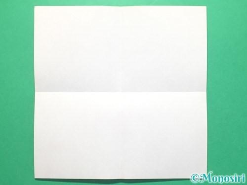 折り紙で紅白鶴の折り方手順2