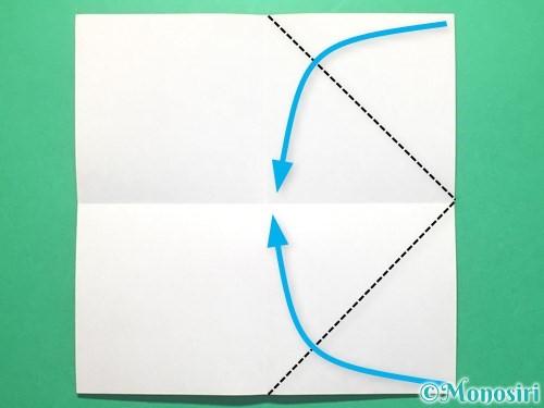 折り紙で紅白鶴の折り方手順3