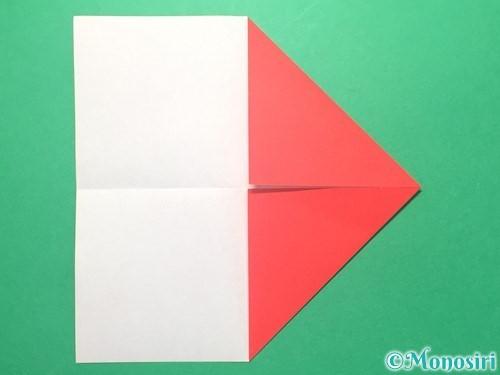 折り紙で紅白鶴の折り方手順4