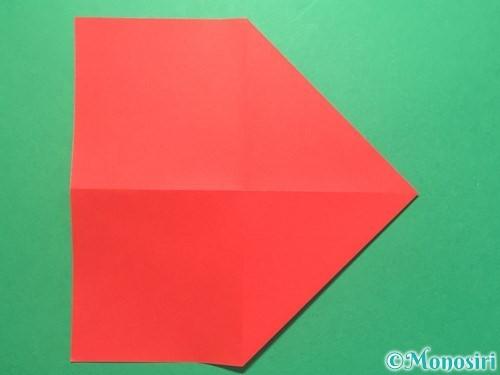 折り紙で紅白鶴の折り方手順5