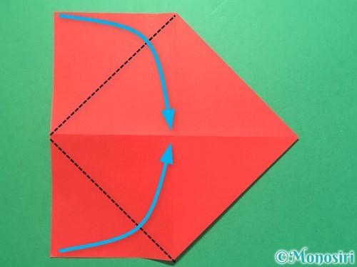 折り紙で紅白鶴の折り方手順6