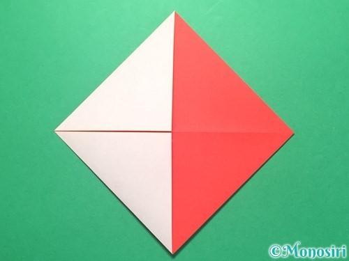 折り紙で紅白鶴の折り方手順7