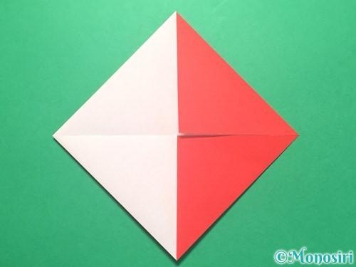 折り紙で紅白鶴の折り方手順8