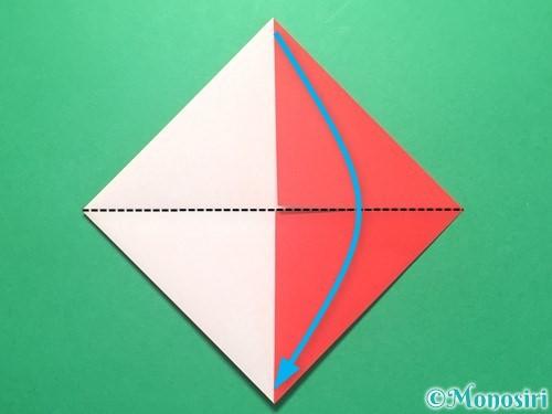 折り紙で紅白鶴の折り方手順9