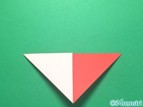 折り紙で紅白鶴の折り方手順10