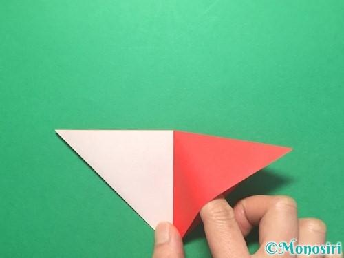 折り紙で紅白鶴の折り方手順11