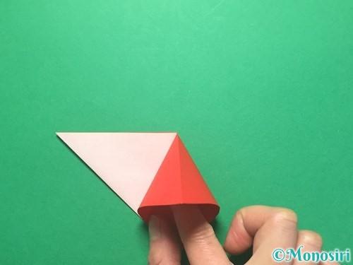 折り紙で紅白鶴の折り方手順12