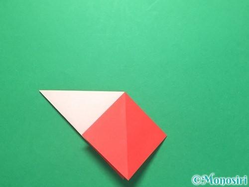 折り紙で紅白鶴の折り方手順13