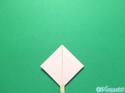 折り紙で紅白鶴の折り方手順14