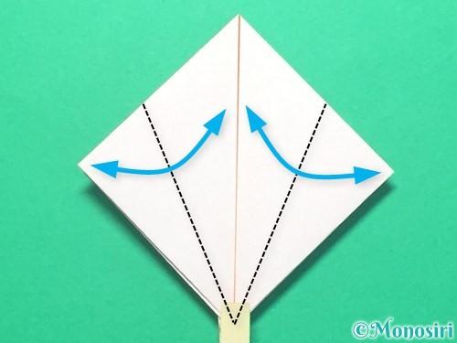 折り紙で紅白鶴の折り方手順15