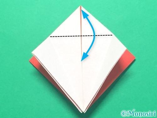 折り紙で紅白鶴の折り方手順17