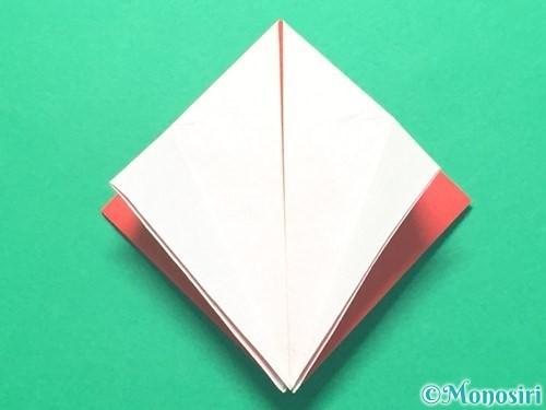 折り紙で紅白鶴の折り方手順16