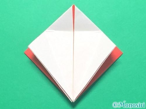 折り紙で紅白鶴の折り方手順18