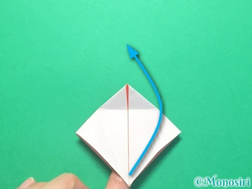 折り紙で紅白鶴の折り方手順19