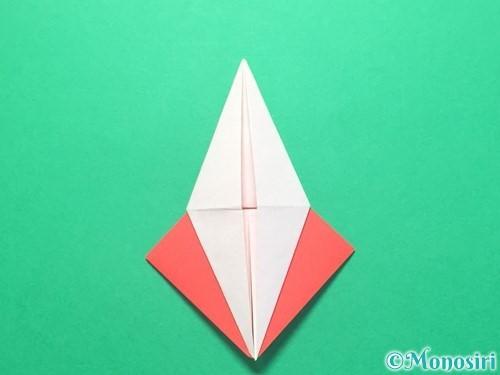折り紙で紅白鶴の折り方手順21