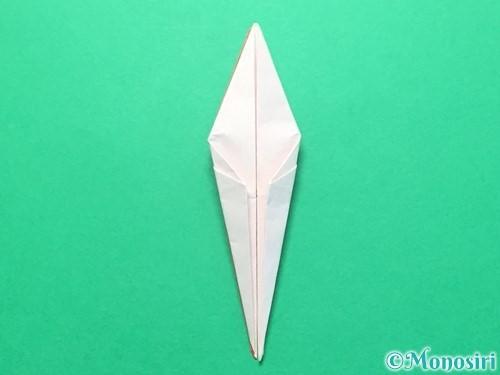 折り紙で紅白鶴の折り方手順25