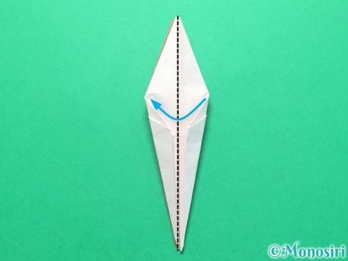 折り紙で紅白鶴の折り方手順26