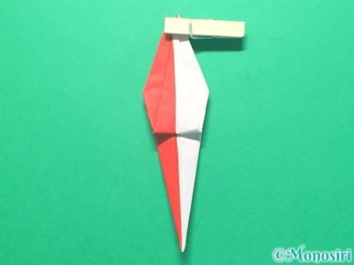折り紙で紅白鶴の折り方手順30