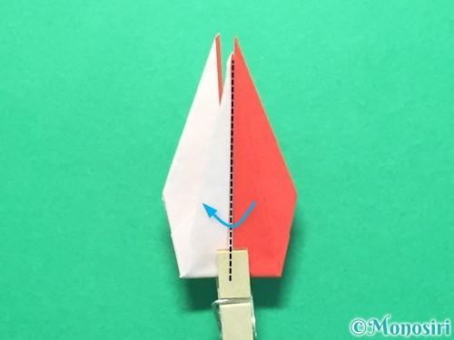 折り紙で紅白鶴の折り方手順34