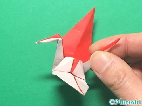 折り紙で紅白鶴の折り方手順40