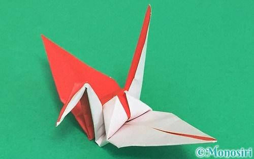 折り紙で折った紅白鶴