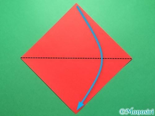 折り紙で祝い鶴の折り方手順1
