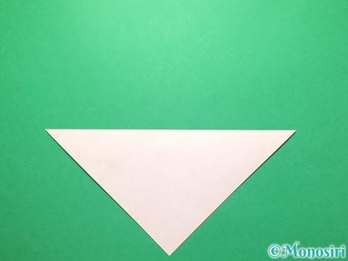 折り紙で祝い鶴の折り方手順2