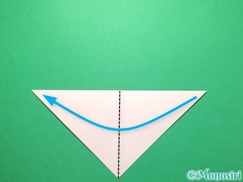 折り紙で祝い鶴の折り方手順3
