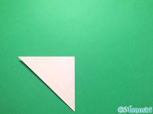 折り紙で祝い鶴の折り方手順4