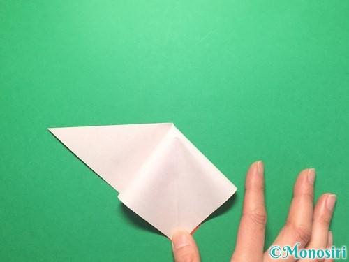 折り紙で祝い鶴の折り方手順7