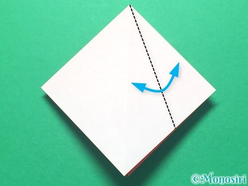 折り紙で祝い鶴の折り方手順10