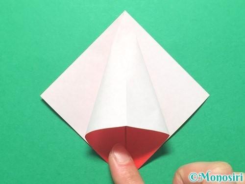 折り紙で祝い鶴の折り方手順13