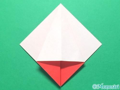 折り紙で祝い鶴の折り方手順14