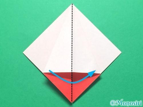 折り紙で祝い鶴の折り方手順15