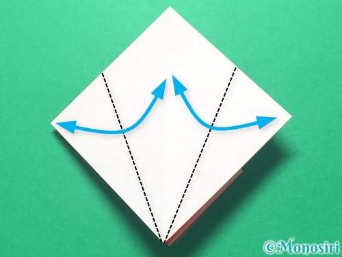 折り紙で祝い鶴の折り方手順19
