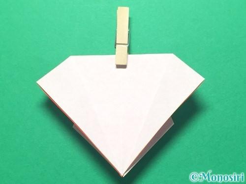 折り紙で祝い鶴の折り方手順22