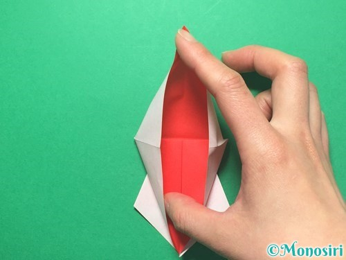 折り紙で祝い鶴の折り方手順24