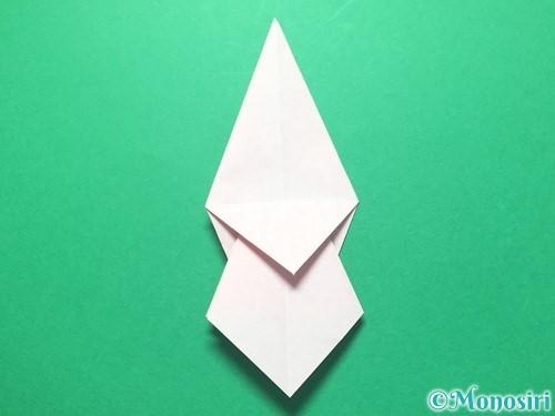 折り紙で祝い鶴の折り方手順26
