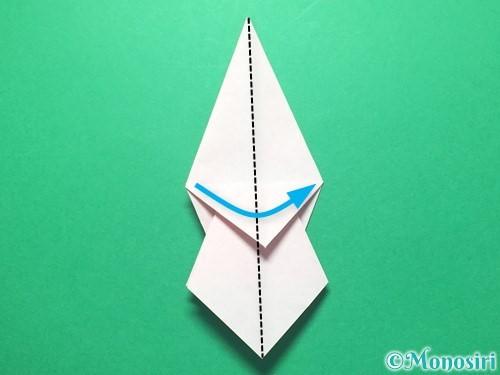 折り紙で祝い鶴の折り方手順27