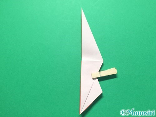 折り紙で祝い鶴の折り方手順28