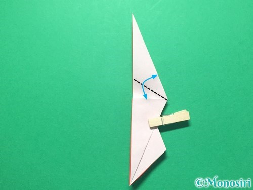 折り紙で祝い鶴の折り方手順29