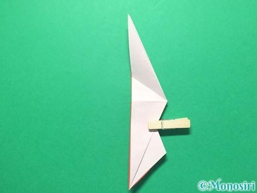 折り紙で祝い鶴の折り方手順30