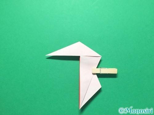 折り紙で祝い鶴の折り方手順34