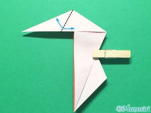 折り紙で祝い鶴の折り方手順35