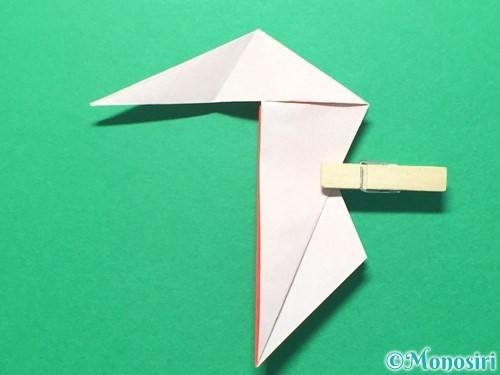 折り紙で祝い鶴の折り方手順36