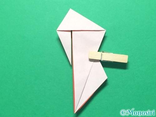 折り紙で祝い鶴の折り方手順39