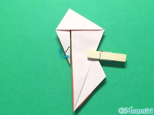 折り紙で祝い鶴の折り方手順40