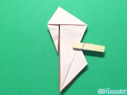 折り紙で祝い鶴の折り方手順41